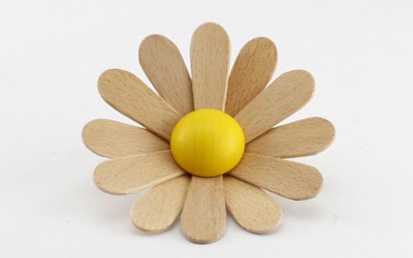 Blume aus Buchenholz, groß