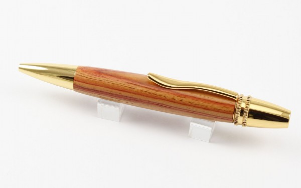 Drehkugelschreiber Gold aus Rosenholz